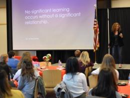 Dr. Melissa Briggs-Phillips delivered the 2019 graduation keynote