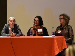 Panelists Camille Hébert, Kelli Brennan, and Lesa Litteral (L-R)